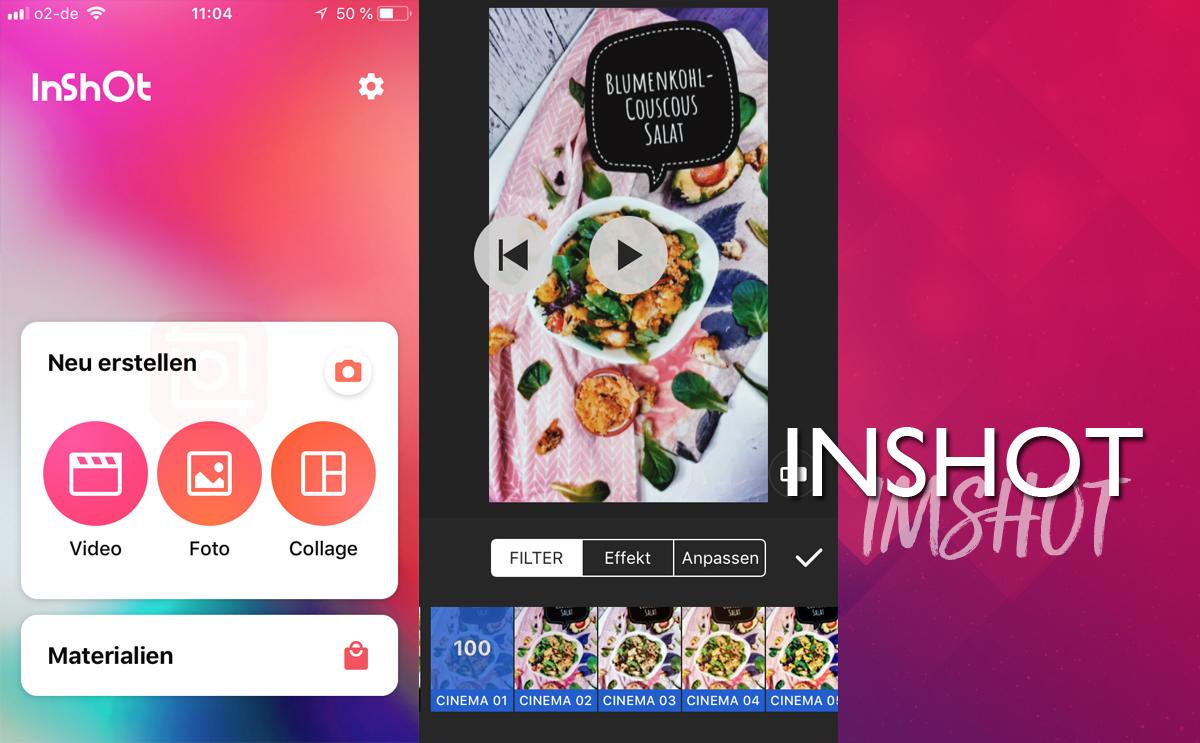 InShot App für Instagram Stories und Videobearbeitung per Smartphone