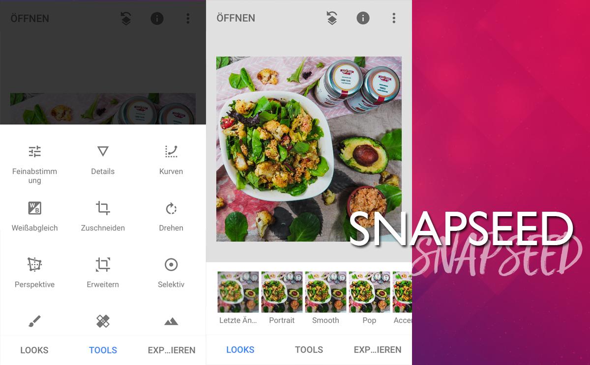 Snapseed App Bildbearbeitung für Instagram Stories