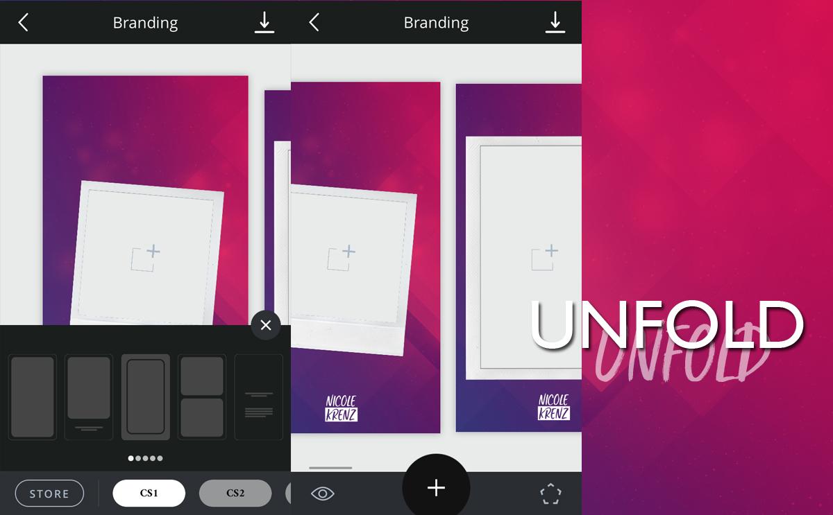 Unfold – Vorlagen und Rahmen für dein Branding in den Instagram Stories
